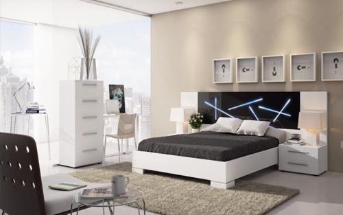 Muebles touch dormitorios for Dormitorio blanco y negro