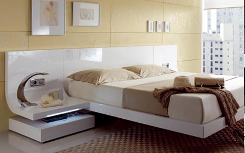 Muebles touch dormitorios for Habitacion matrimonio blanco y plata